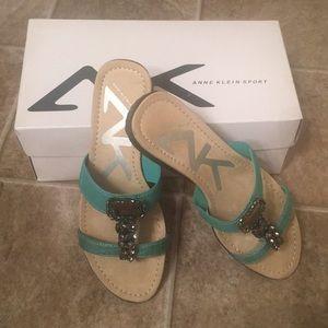 Anne Klein Sport jewel sandals